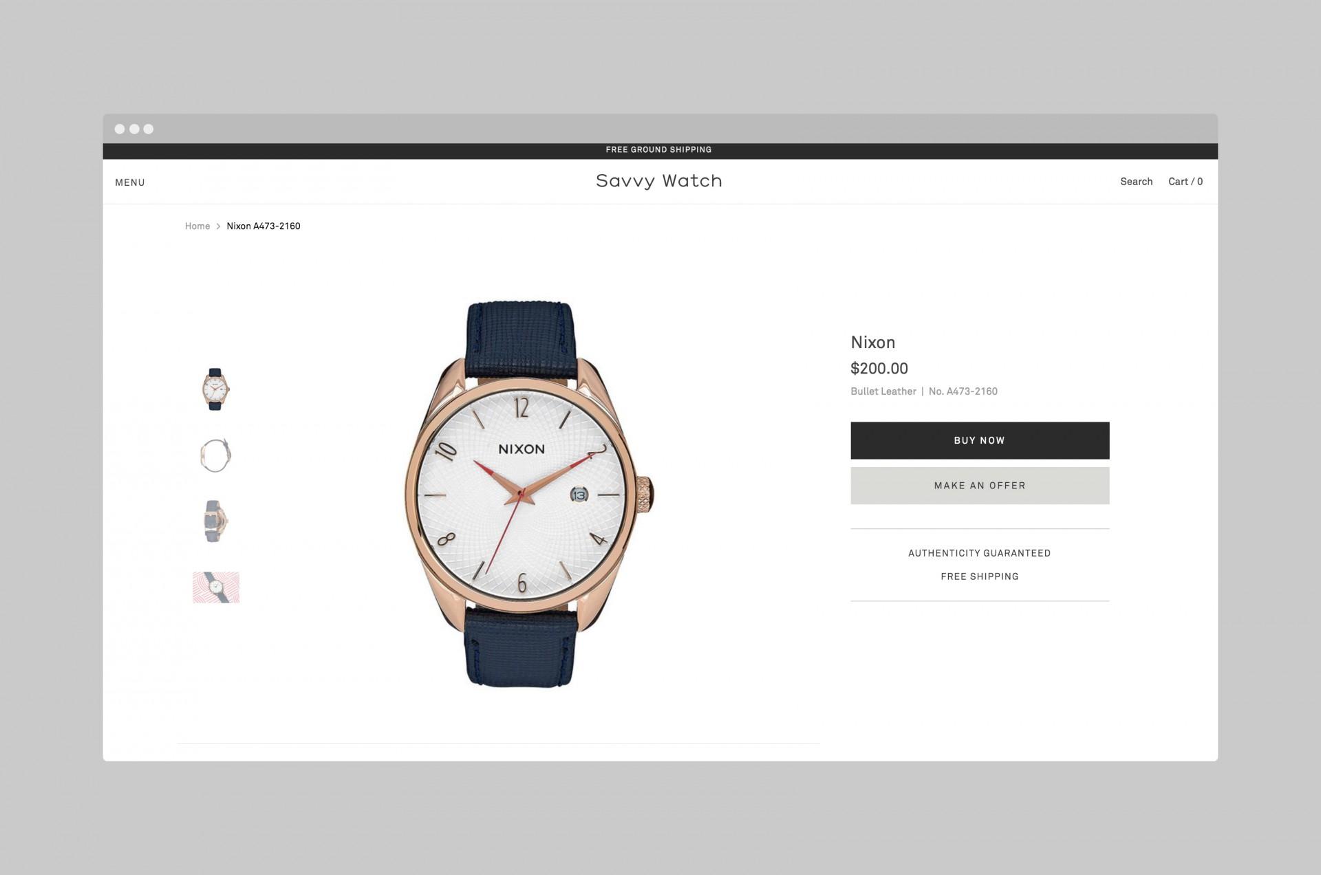 Savvy Watch Ecommerce | Studio Birdsall