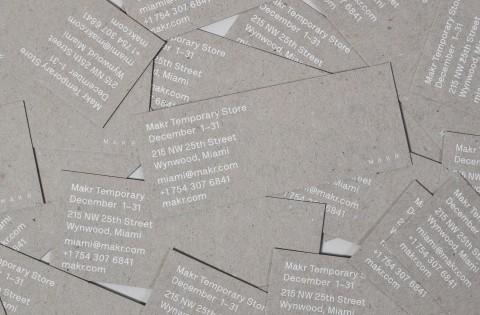 Studio Birdsall - identity - flyer design for Makr temporary store